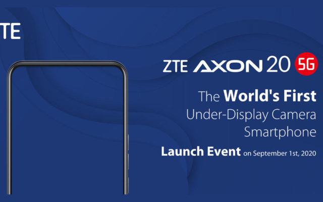 ZTE Axon 20 5G станет первым, кто получит подэкранную селфи-камеру