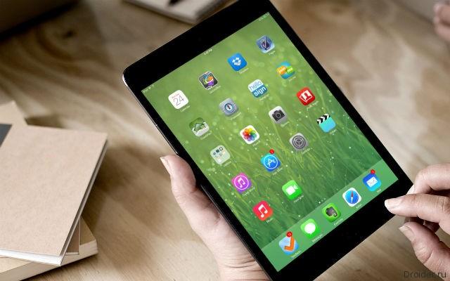 iOS 7 на планшете