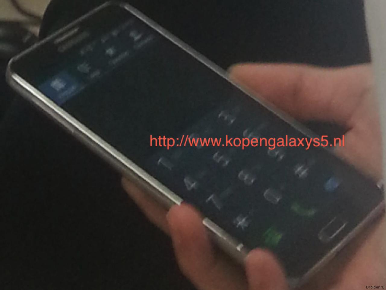 Шпионское фото Galaxy S5 Prime