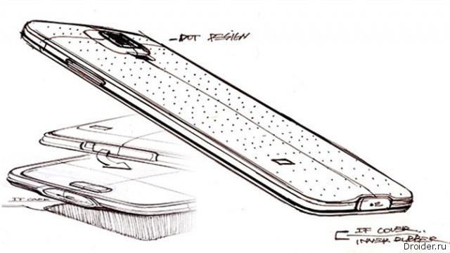 Эскиз будущего Galaxy S5 от Samsung