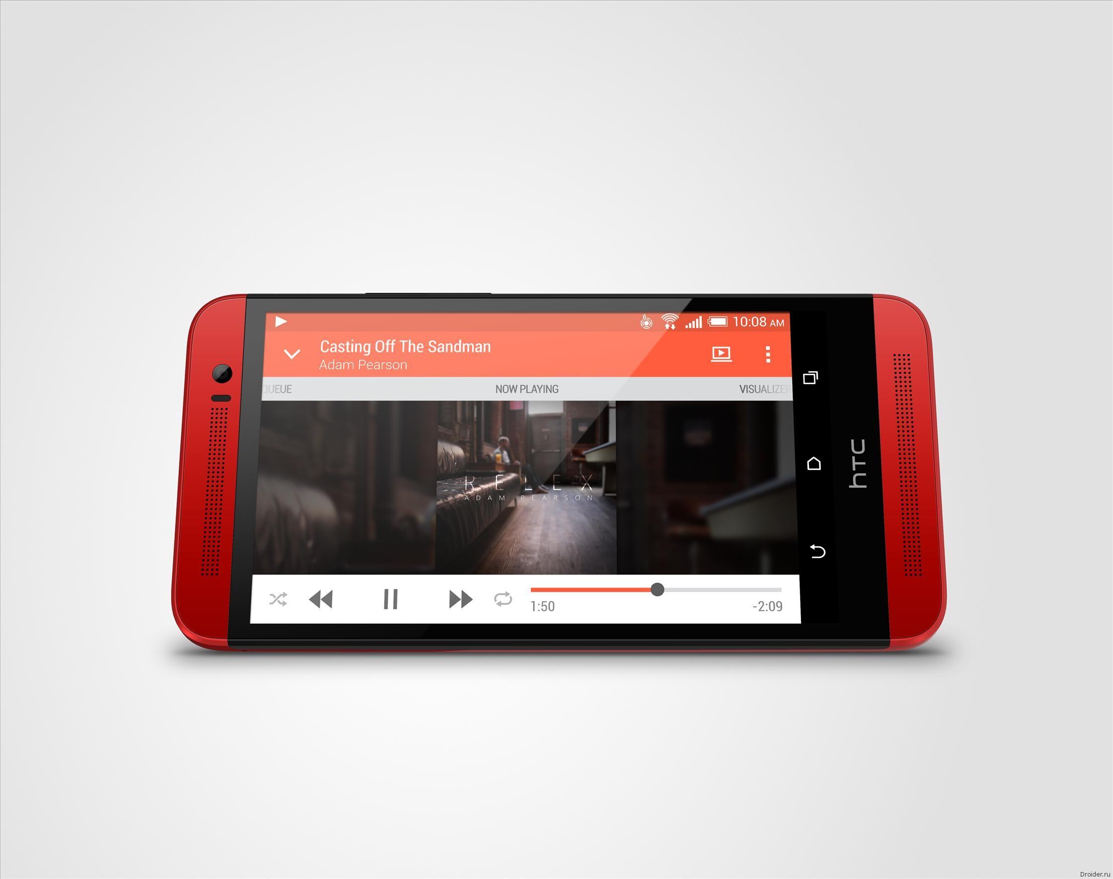 Красный смартфон HTC One (E8)
