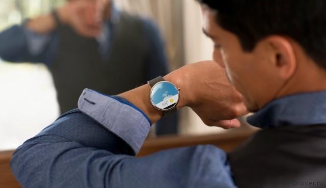 """""""Умные"""" часы Moto 360 от Motorola на ОС Android Wear"""