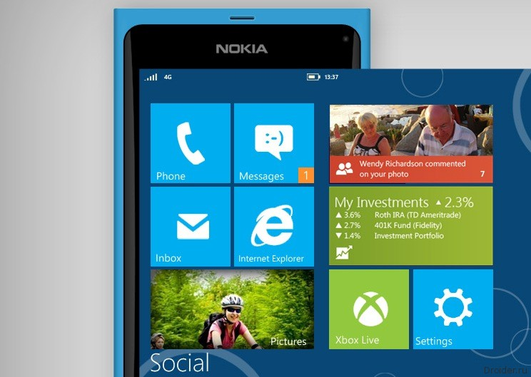Смартфон Nokia Lumia на ОС Windows Phone