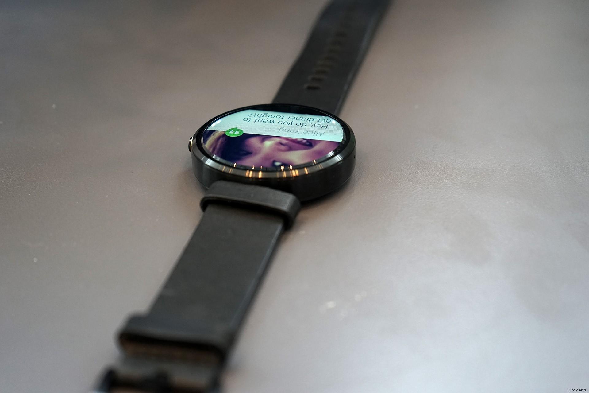 """""""Умные"""" часы Moto 360 от Motorola на конференции Google I/O 2014"""