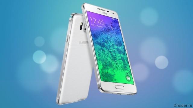 Смартфон Galaxy alpha от Samsung