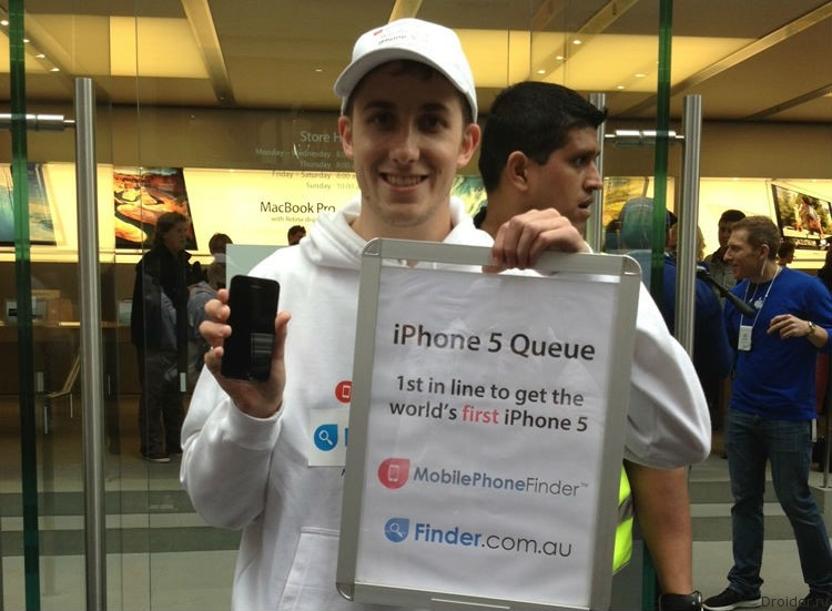 Тодд Фут и iPhone 5. 2013 год