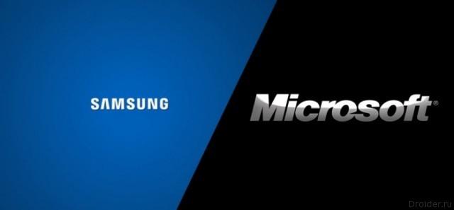 Логотипы Samsung и Microsoft