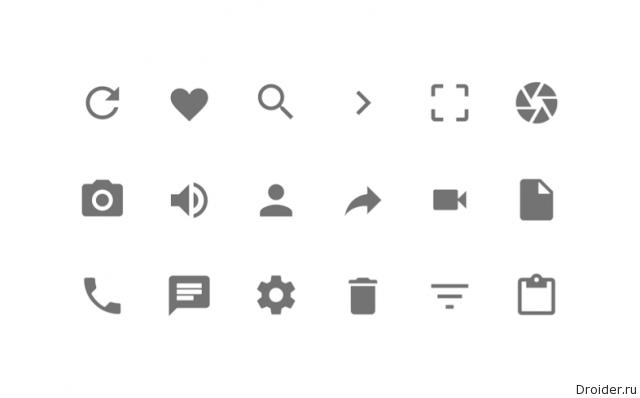 Иконки в Android Lollipop