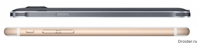 Смартфоны iPhone 6 Plus и Galaxy Note 4
