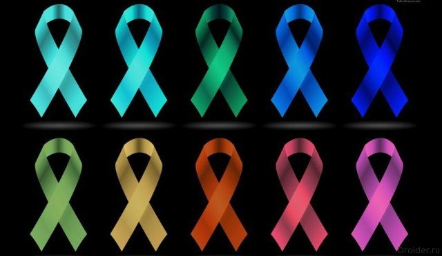 Лента-логотип Борьбы с раковыми заболеваниями