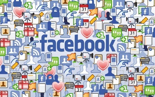 Иконки сервисов соцсети Facebook