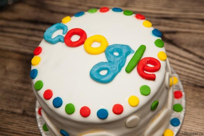 Торт с логотипом Google