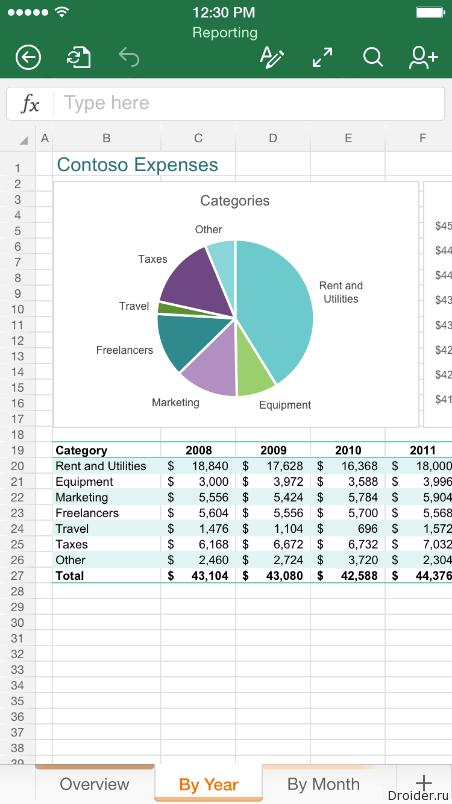 Excel для iPhone