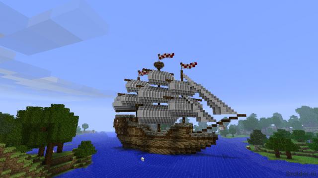 Корабль в Minecraft