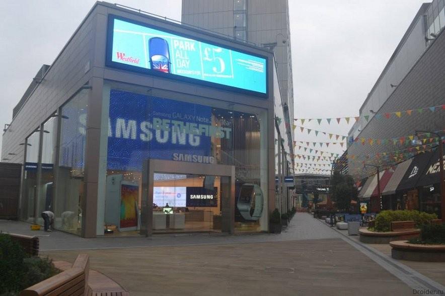 Флагманский магазин Samsung в Лондоне
