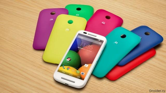 Смартфон Moto E от Motorola