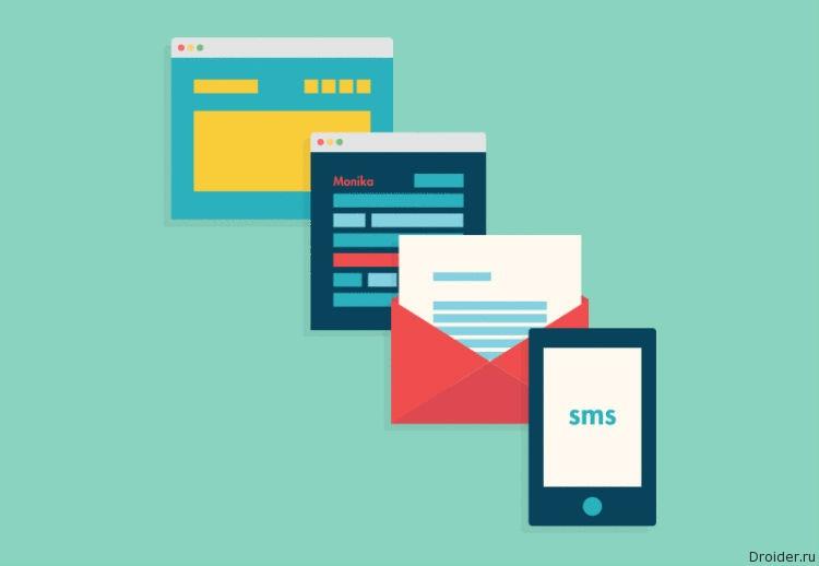 Сообщения. письма и СМС