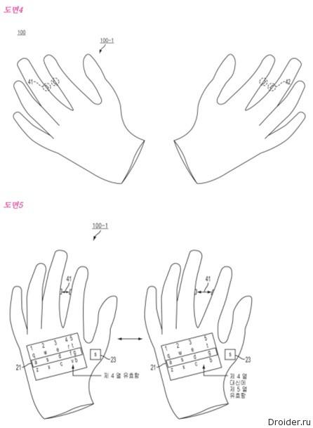 "Samsung запатентовала ""умные"" перчатки"