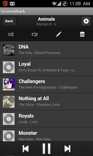 Grooveshark Android Player