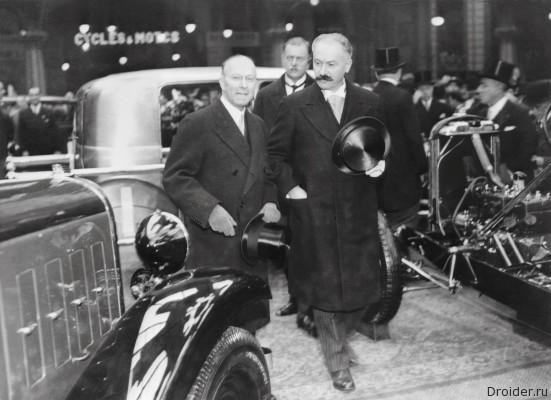 Andre Citroen Albert Lebrun Paris 1932