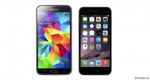 galaxy s5 vs iphone 6