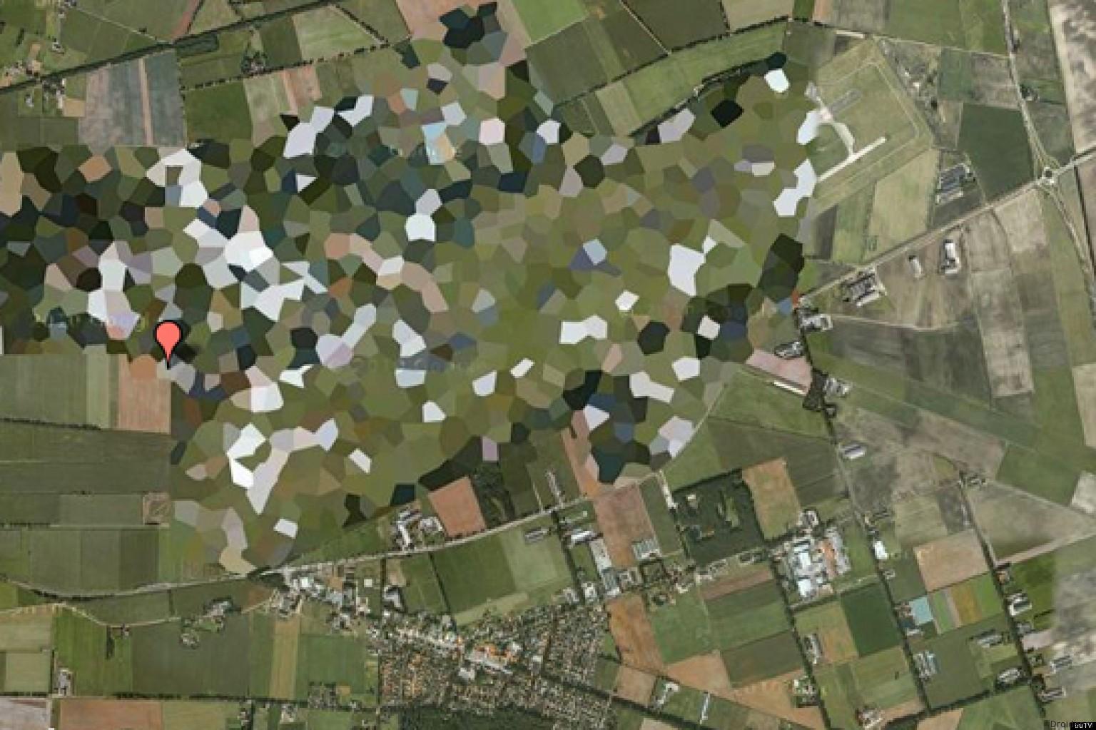 Секретные объекты на Google Maps