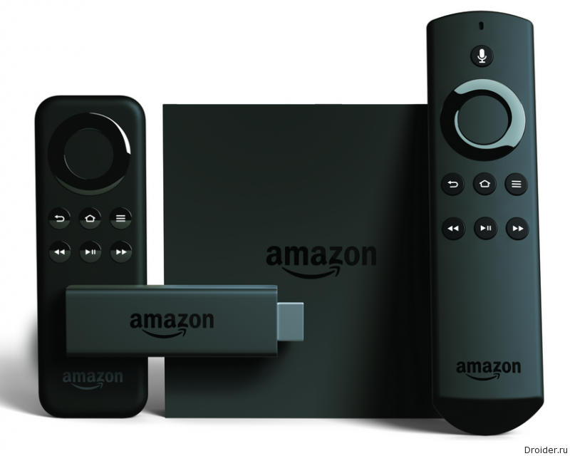 Телевизионная приставка Fire TV и компактный медиаплеер Amazon Fire TV Stick