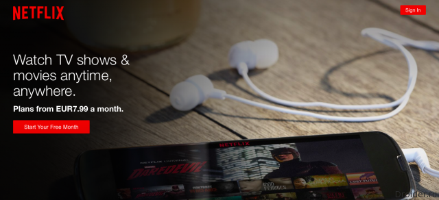 Главная страница Netflix