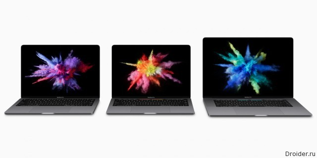 Линейка MacBook Pro 2016