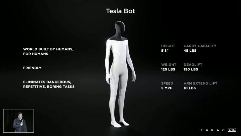 Илон Маск о Tesla Bot: Вы будете в порядке, если будете бегать быстрее него
