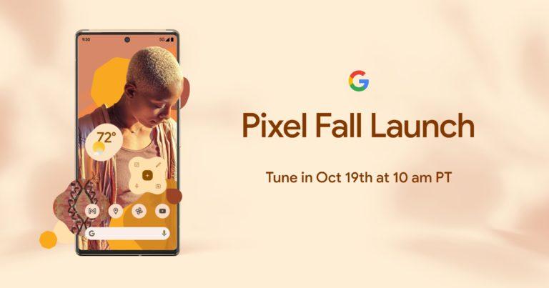 Официально: 19 октября Google покажет Pixel 6
